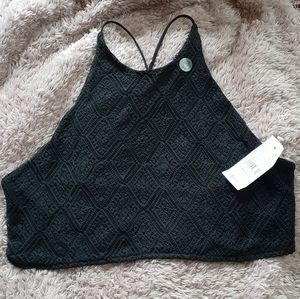 Black Lacey cropped top